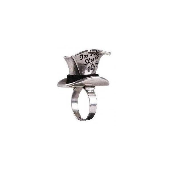 Disney Couture Mad Hatter Adjustable Ring ($2.12) ❤ liked on Polyvore featuring jewelry, rings, accessories, bijoux, disney couture jewellery, disney couture, disney couture ring, disney couture jewelry and adjustable rings