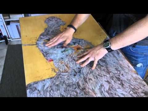 The process of transferring ink on to beeswax. - YouTube