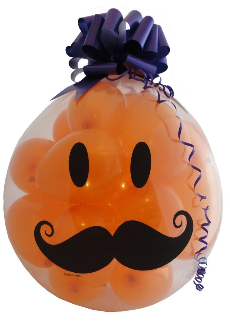 "Qualatex 18"" Stuffing Balloon, MUSTACHE HAPPY FACE http://www.keepsakestuffer.com/qualatex-18-stuffing-balloon-mustache-happy-face/"