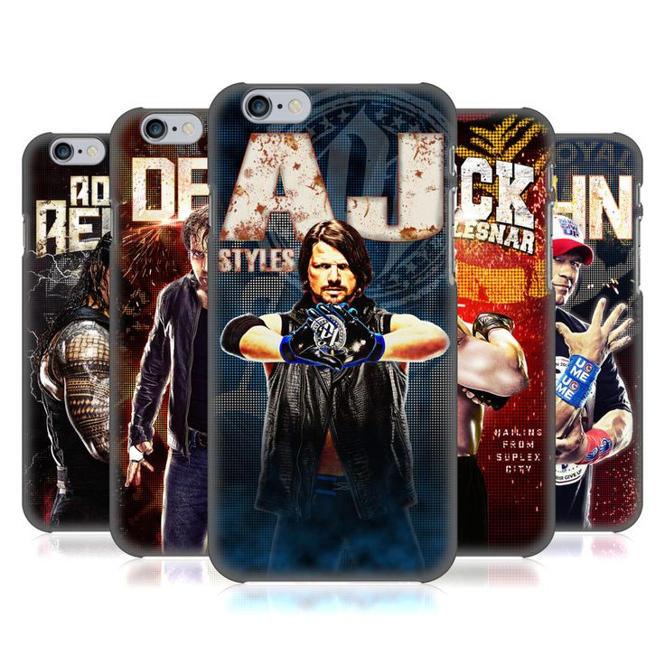 OFFICIAL WWE SUPERSTARS HARD BACK CASE FOR APPLE iPHONE PHONES #WWE