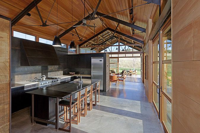 30 Stunning interior living spaces with exposed ceiling ... |Modern Wood Trusses