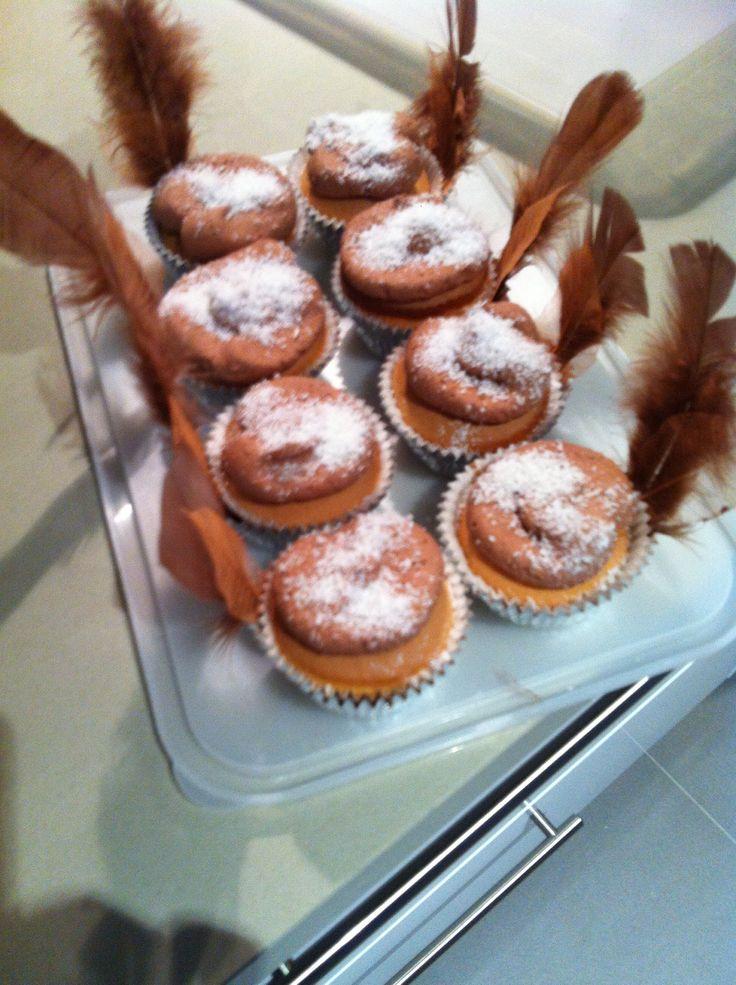 Navajo lamington cupcakes
