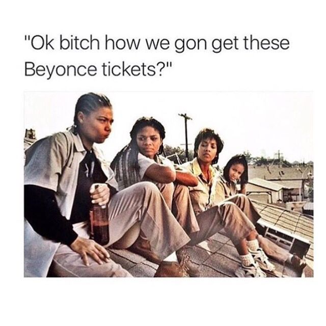 Funny Beyonce concert tickets