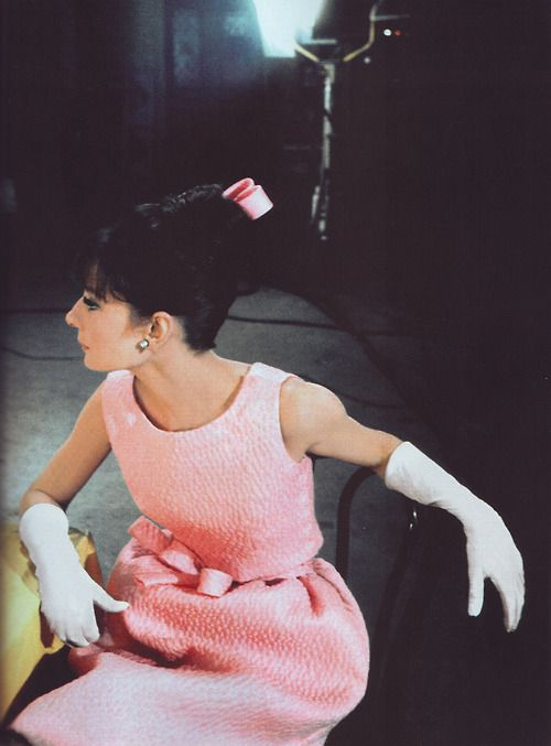 Audrey in pink!