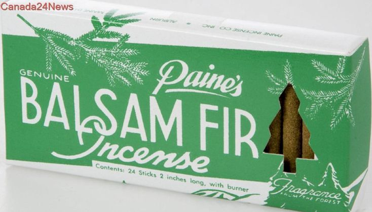Balsam-scented incense smells better than the real thing