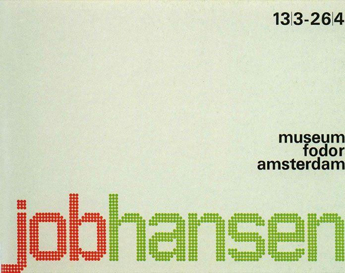 Wim-Crouwel-affiche-Job-Hansen-1964