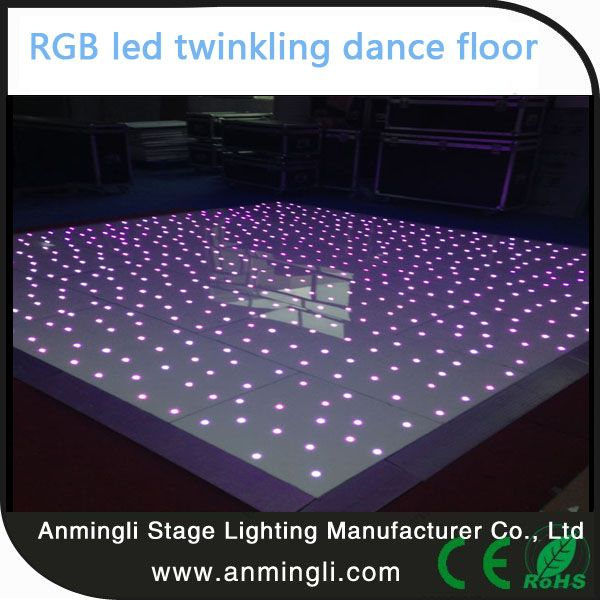 The LED wireless portable Starlit Twinkling Dance Floor is currently one of our most popular floor for both hire and purchase. Suitable for weddings and other special events, it adds to any party. With a pure gloss finish and twinkling lights dazzling you and your guests, you can be sure to make a huge impression with this style of dance floor.