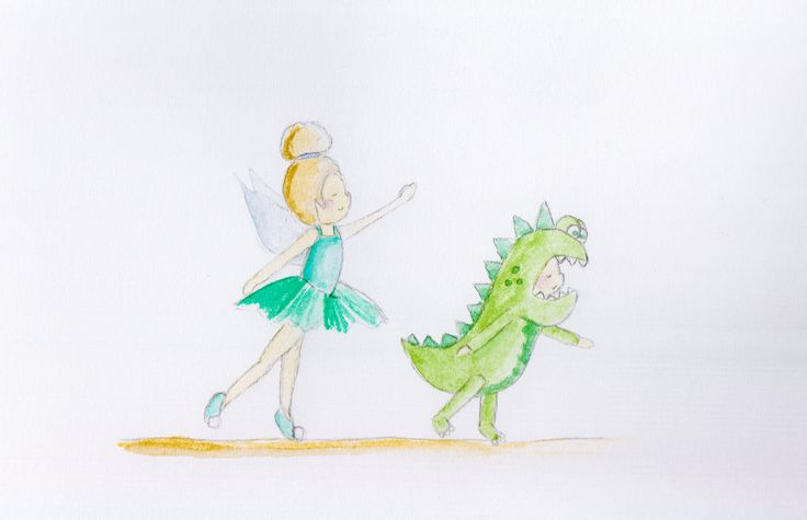 Week 11 - Green  Harry agreed to be in Lilly's ballet performance but only if he could be a dinosaur! xxx: