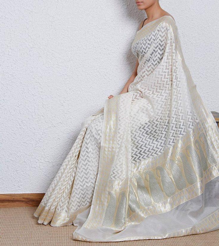 kora silk saree perfect day wear