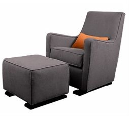 Petit Tresor | baby furniture monte luca glider and ottoman charcoal : a glider that isn't ugly