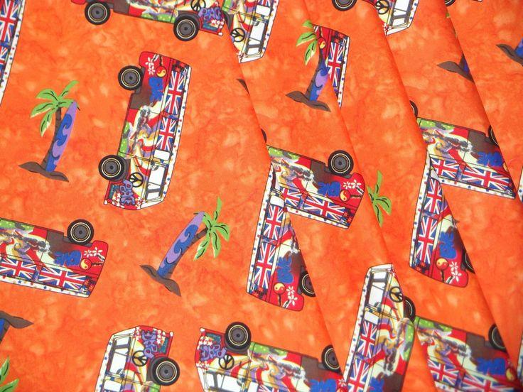 Orange Campervan Motorhome Caravan Curtains VW T2 T4 T5 T25 Fully Lined