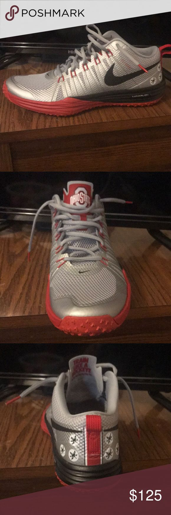 Shoes These have been worn a couple times. They are in great condition. fly wire lunarlon nike special edition shoes. 2014 Ohio state national championship shoes. They are a men's size 10.5. Nike Shoes Sneakers