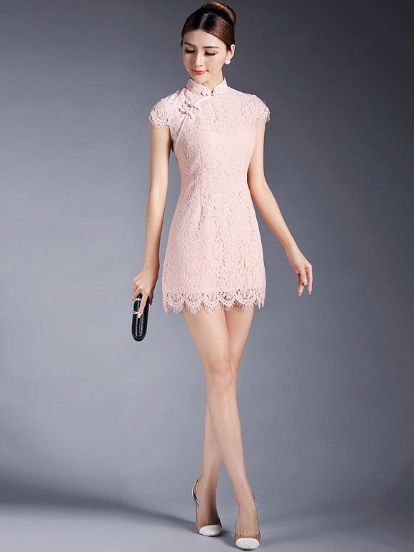 Short Lace Qipao / Cheongsam Dress