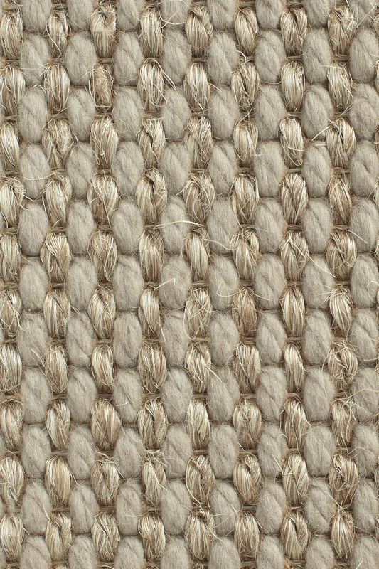 Cortina wool and sisal rug in mineral wool sisal for Wool sisal carpet