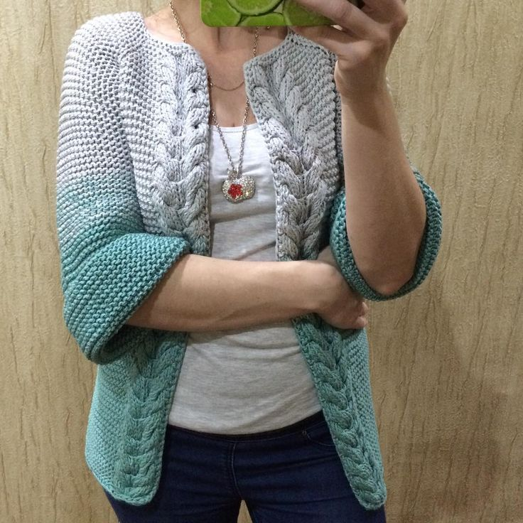 Хлопковая курточка - накидка #вналичии ⚪️#хлопок#переходцвета#градиент#пиджак#накидка#куртка#ручнаяработа #jnhandmade #зеленый#серый#серебрянный#осень #москва