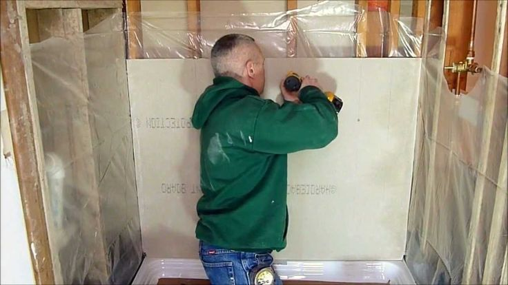 How to prepare a shower alcove or bathtub walls for tile using cement backerboard and attending to important waterproofing details. Common bath remodeling is...