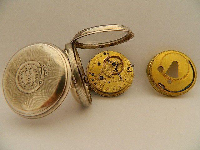 Visitate il mio negozio: http://www.ebay.it/sch/jumanantic/m.html Antico orologio da tasca argento M. Sichel & co silver pocket watch