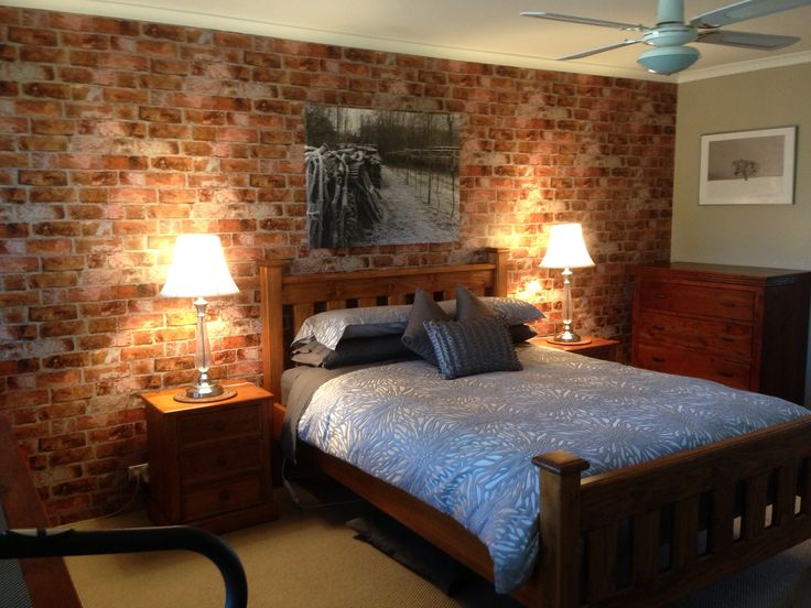 157 best images about brick wallpaper on pinterest for Brick accent wall bedroom