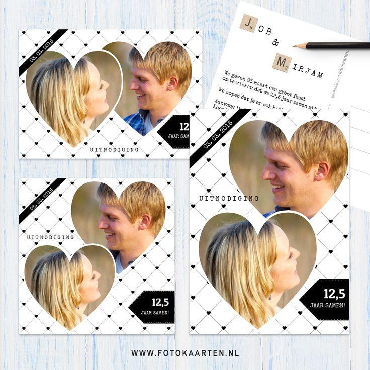 12,5 jaar samen? Dat moet gevierd worden! Bij Fotokaarten hebben we allerlei nieuwe achtergronden, fotolijsten en versieringen toegevoegd waar jij een kaart mee kunt maken. Dit patroon is kleurbaar. Probeer het uit op www.fotokaarten.nl