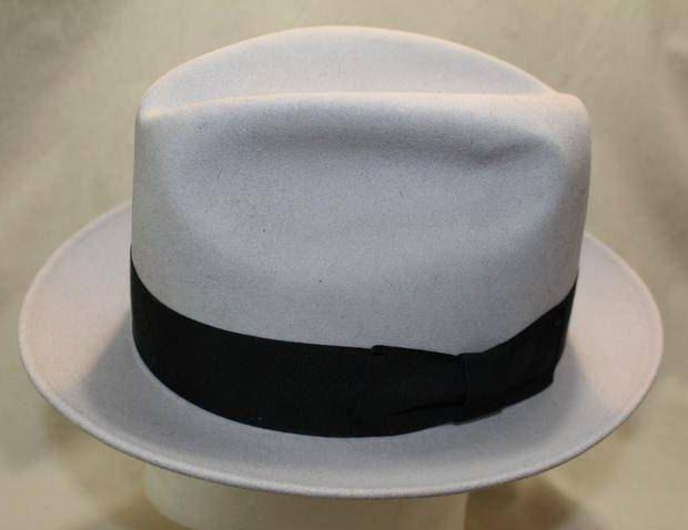 4c4812e1784 Vintage Bollman Dynafelt Designed by Allyn St George Gray Fur Felt Men s  Dress Hat Fedora Size 7 1 8 57 cm by AtticEsoterica on Etsy