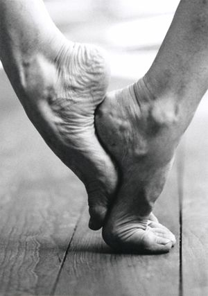 """The exhibition 'feet of contemporary choreographers' by Lisa Rastl and Willi Dorner presents dance artists in relationship with their extremities, of which Mathilde Monnier says: """"La dance, c'est le pied"""" - Dancing means the feet. #dance"""