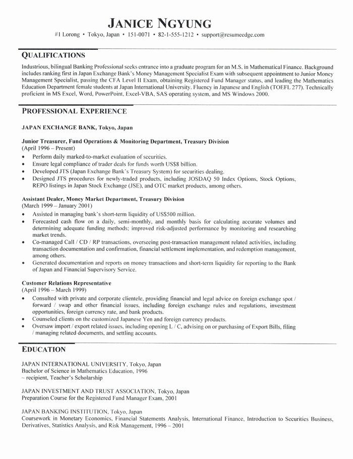 Graduate School Application Resume Unique Graduate School Admissions Resume Resume For Graduate School School Application School Admissions