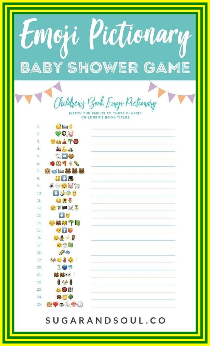 127 reference of baby shower emoji pictionary game answers ...