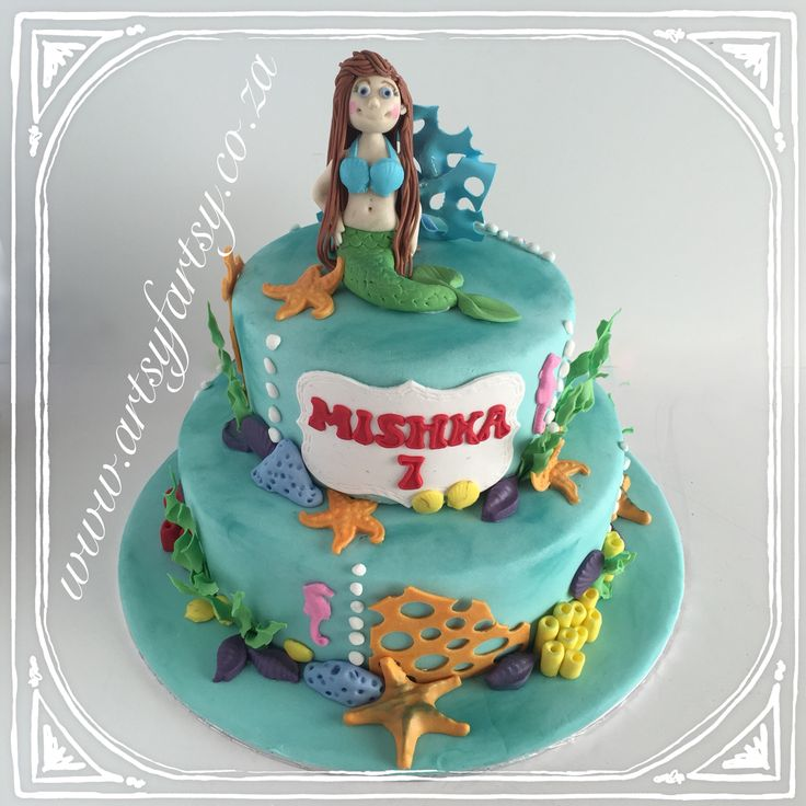 Mermaid Cake #mermaidcake