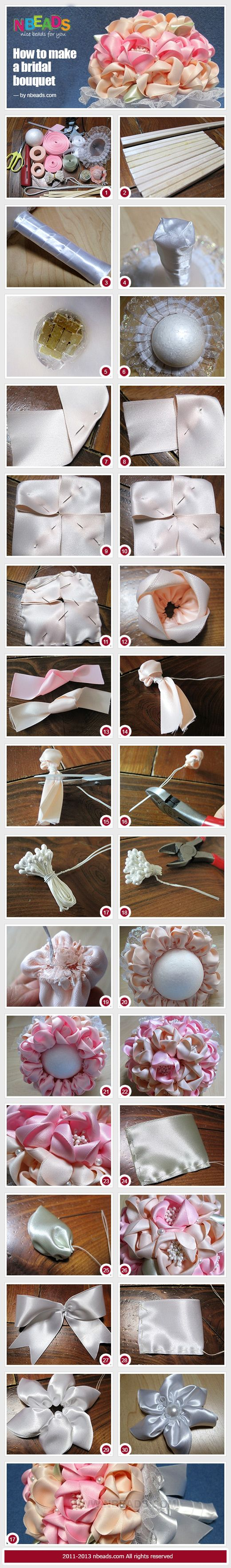 how to make a bouquet http://www.nbeads.com/article-how-to-make-a-bridal-bouquet-718.html