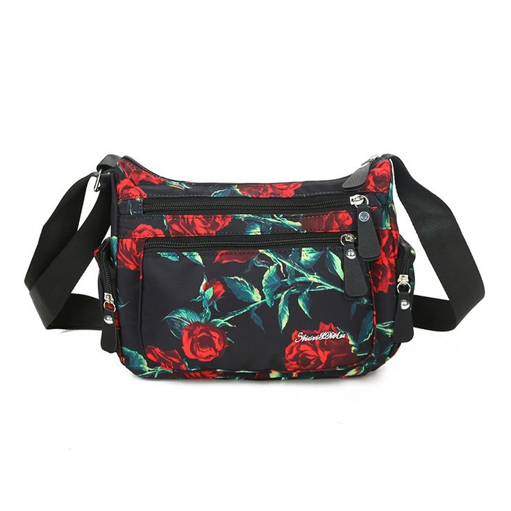 Brand high quality waterproof messenger bag Women's fashion fresh floral shoulder bag New 2017 cluth College style cloth bag