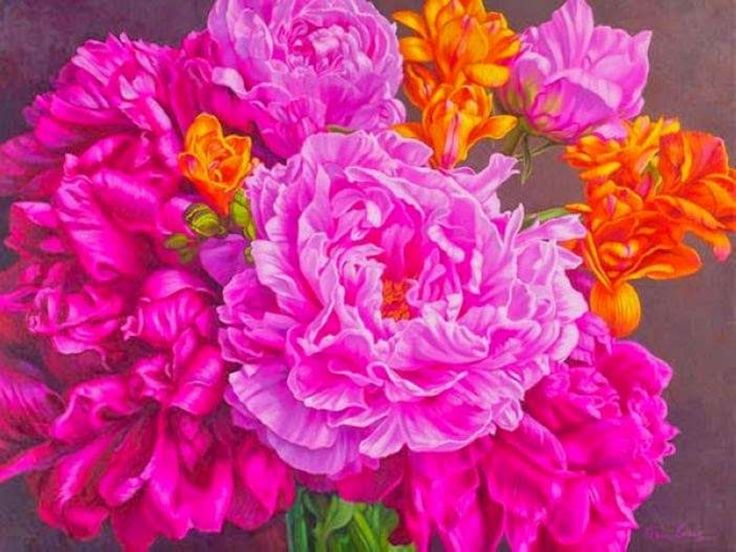 Flowers, by Australian painter Fiona Craig by maditabalnco via slideshare