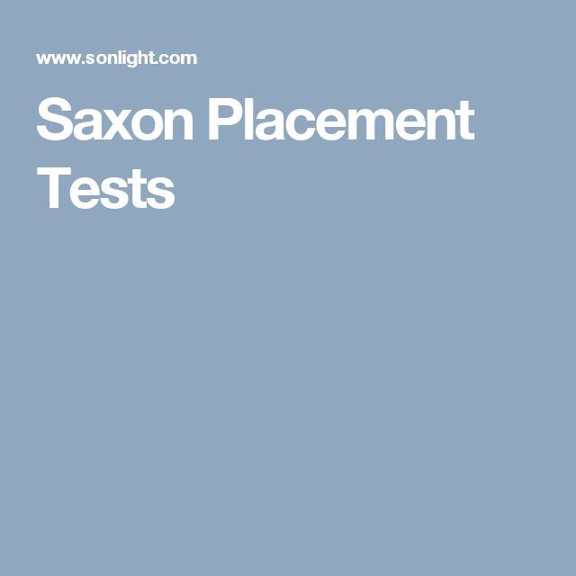 Saxon Placement Test