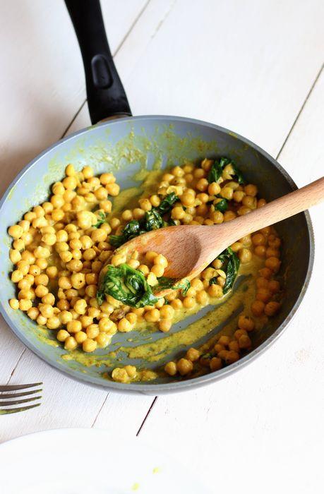 Curry de pois chiches au lait de coco (vegan) - Le cocon magique