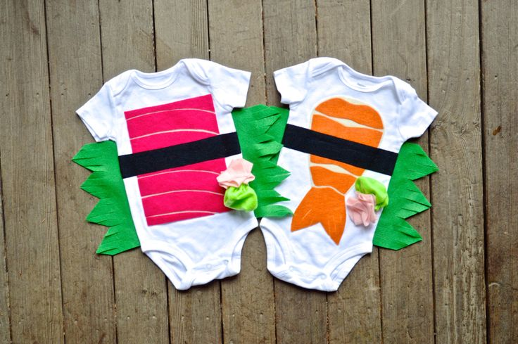 Twin Sushi Costume, Shrimp AND Tuna Costumes, Costume Children, Funny Halloween Costume, Baby Clothes, Gifts under 100 by TheWishingElephant on Etsy