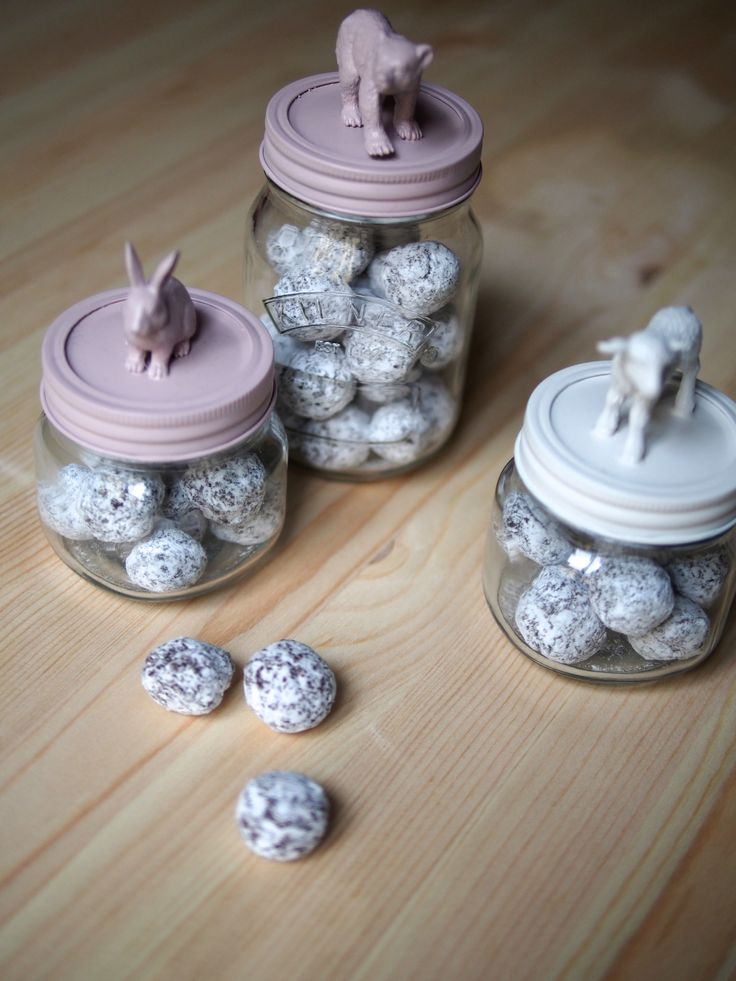 tuto bocal décoré + recette des petites boules de chocolat