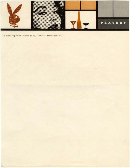 playboy letterhead 1955: Graphic Design, Design Inspiration, Business Cards, Stationary, Vintage, Playboy Letterhead Stationery, Letterhead Design, Graphics, Top