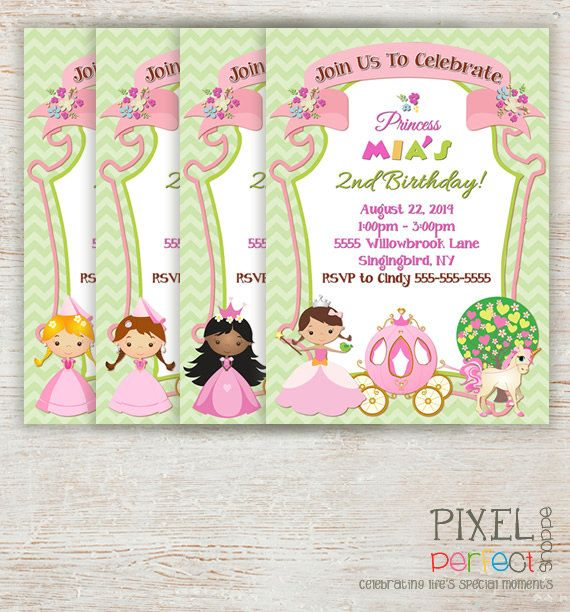 princesses birthday invitation