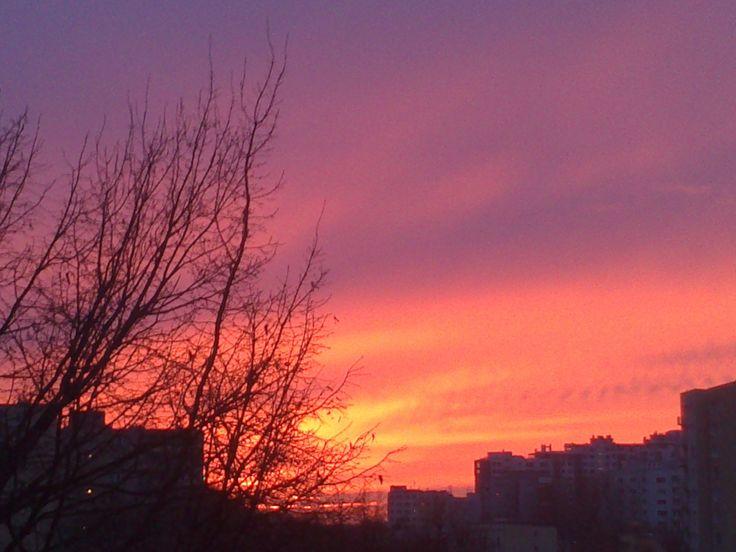 Warszawa, Warsaw, November Sunset