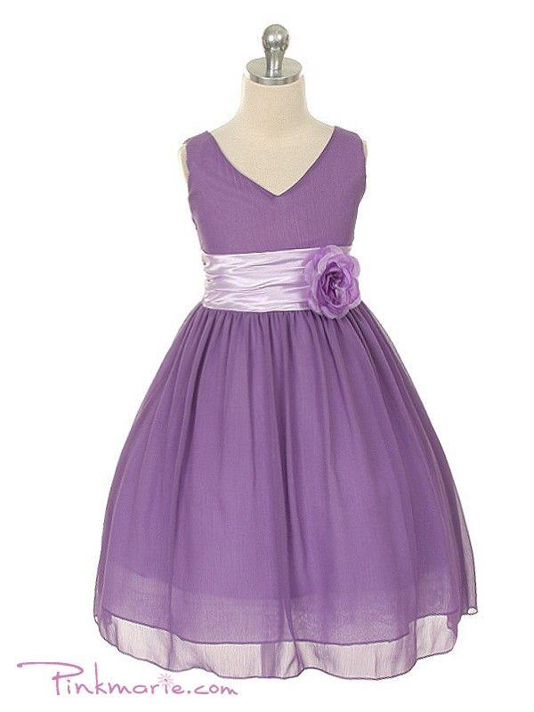 Lavender+Flower+Girl+Dresses | Home » Lilac Yoru Chiffon Flower Girl Dress