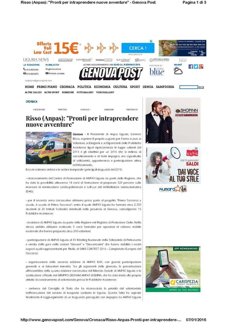 Genova Post - 31 dicembre - discorso del Presidente pag1/2