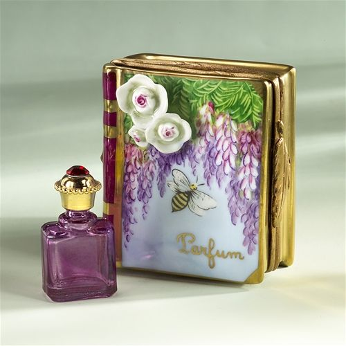 Limoges Flower Bee Book with Perfume Bottle Box The Cottage Shop