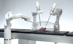 These medical robots are collaborative robots, which are also known as cobots.