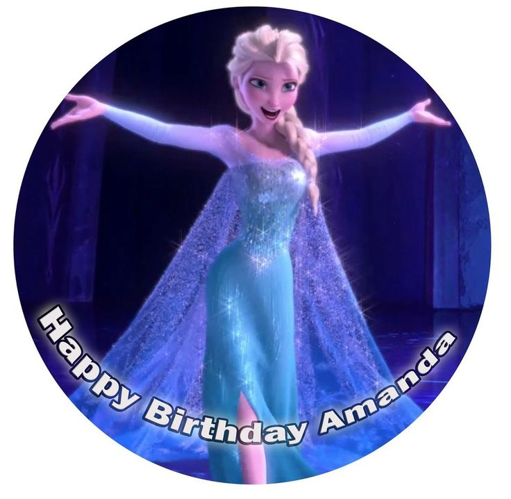 Elsa Frozen Printed Edible Icing Cake Topper Personalised Party Decoration