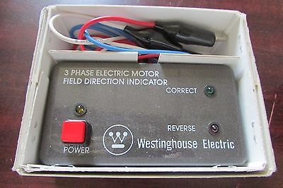 WESTINGHOUSE ELECTRIC 3 Phase Electric Motor Field Direction Indicator