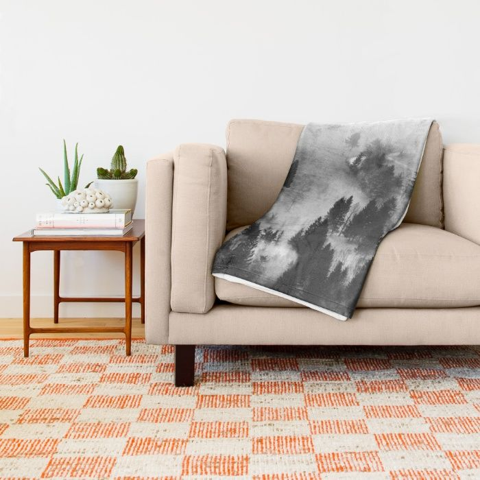 Ghostly Throw Blanket by Mixed Imagery | Society6