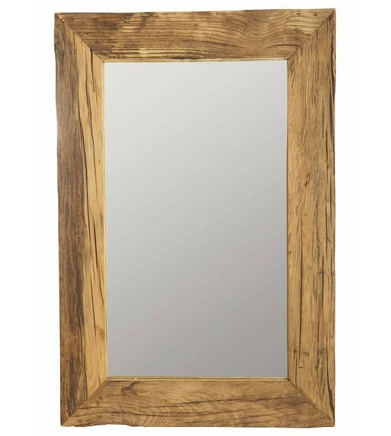 Housedoctor Spiegel mit recyceltem Holzrahmen, braun, 60x90 cm - lefliving.de