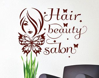 Wall Decals Woman Girl Hair Vinyl Sticker Decal by CozyDecal