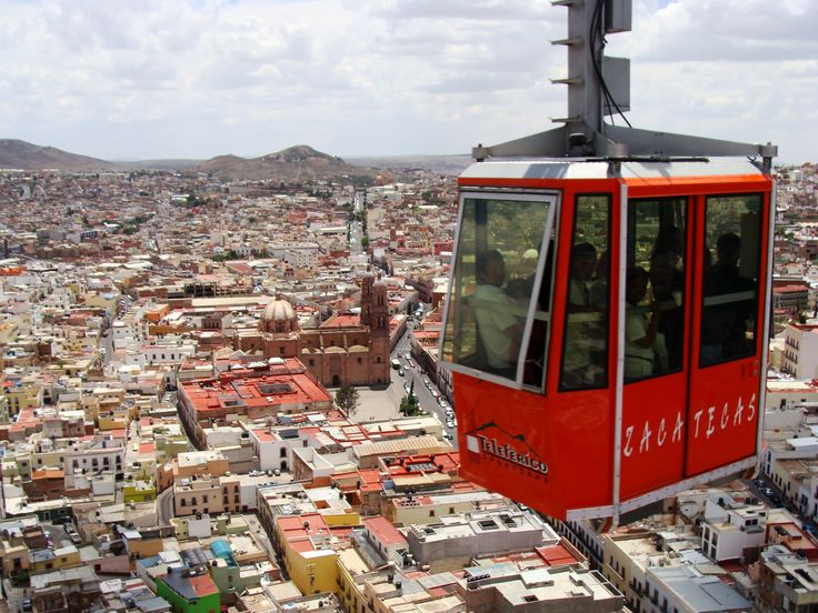 Teleferico cable car over Zacatecas, Mexico