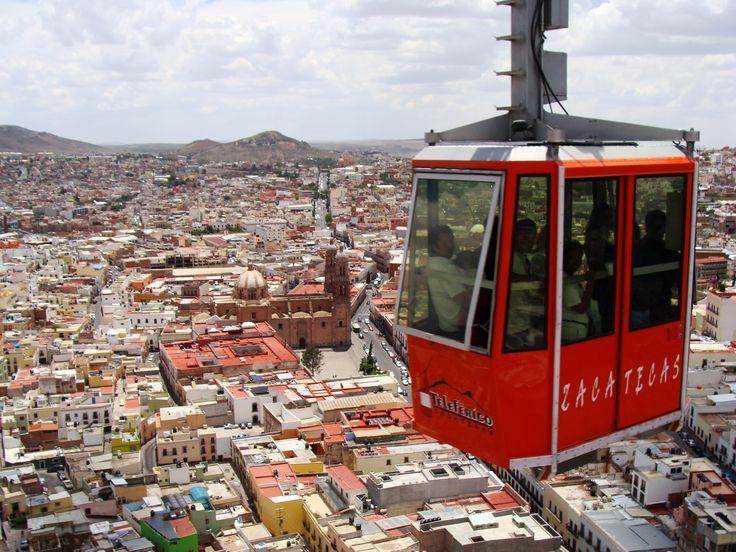 Teleferico cable car over Zacatecas, Mexico