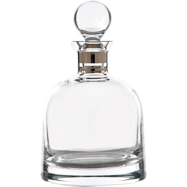 Waterford Elegance Short Decanter with Stopper ($195) ❤ liked on Polyvore featuring home, kitchen & dining, bar tools, modern decanter, waterford decanter and waterford
